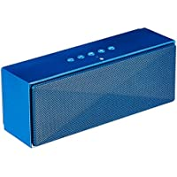 AmazonBasics Wireless Bluetooth Dual 3W Speaker with Built-in Microphone (Blue)