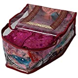 Indi Bargain Heavy Maroon Brocade Heavy Wedding Blouse Cover (10-15 Sarees Capacity)