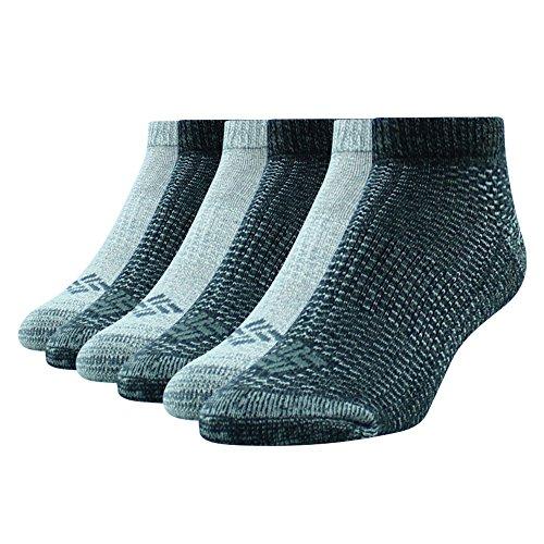 Columbia Women's Low Cut Socks - 6 Pack - Grey/Black, Size 4-10