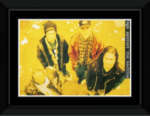 Rage Against The Machine - Yellow Framed and Mounted Print - 10.2x14.7cm Stick It On Your Wall