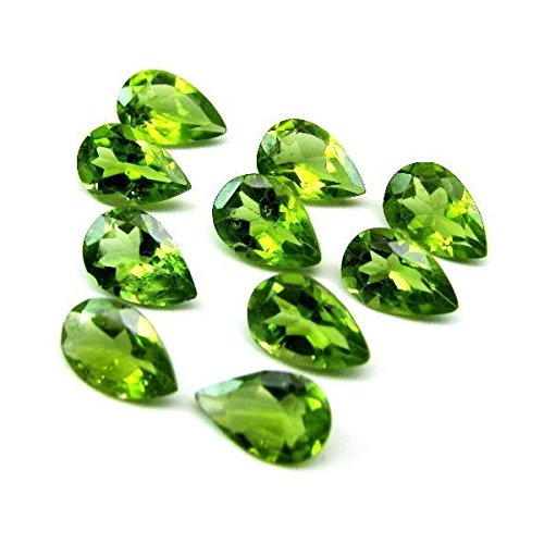Natural Peridot Aaa Quality Loose Gemstone 4X3 Mm Faceted Pear 10 Pieces Lot From Dashrath International front-1074892