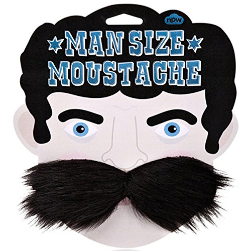 MAN Size Moustache Huge Albert Enstein Size