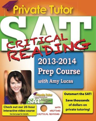 Private Tutor SAT Critical Reading 2013-2014 Prep Course PDF