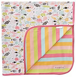Magnificent Baby Baby-Girls Newborn Sweet Treats Reversible Blanket, Multi, One Size