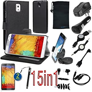 birugear 15 items essential accessories bundle kit for samsung galaxy note 4 gray. Black Bedroom Furniture Sets. Home Design Ideas