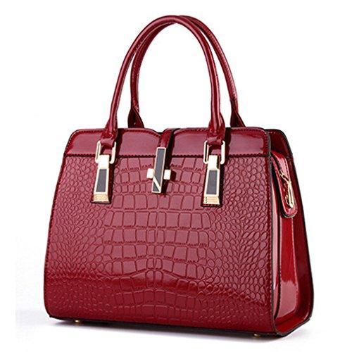 Fleeting Time Womens High-grade Bright Crocodile Pattern Portable Handbag(C3) (Cute Betty Boop Halloween Costumes)