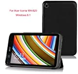 VSTN?Acer Iconia W4-820 Ultra-Thin Multi-angle Stand Slim Smart Cover Case, only fit Acer Iconia W4-820 (For Acer Iconia W4-820, Black)