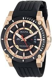 Bulova Men's 98B152 Precisionist Rubber Strap Watch