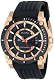 Bulova Mens 98B152 Precisionist Rubber Strap Watch