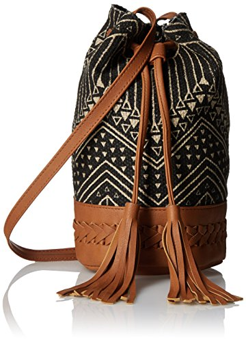 twig-arrow-nubby-canvas-bucket-bag-black-white-one-size