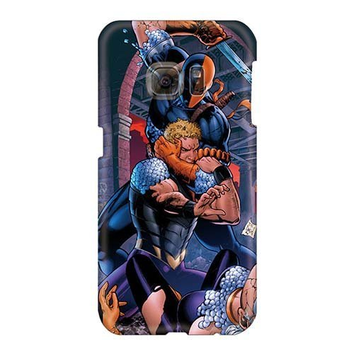 Anti-Scratch Hard Cell-phone Cases For Samsung Galaxy S6 With Allow Personal Design Stylish Deathstroke I4 Pictures MarcClements