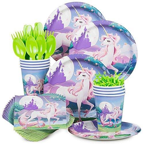 Costume-Supercenter-BBKIT901-Unicorn-Fantasy-Birthday-Party-Standard-Tableware-Kit