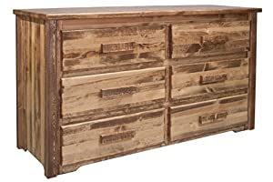 Montana Woodworks Homestead Collection 6-Drawer Dresser, Stain and Lacquer Finish