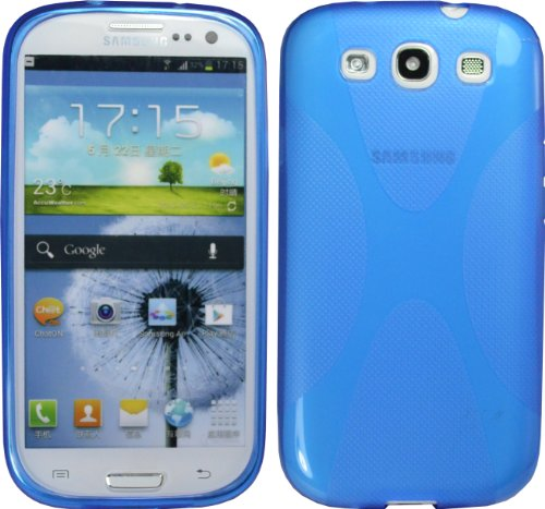 Blue X-Line Tpu Case For Samsung Galaxy S Iii S3 I9300 I535 L710 T999 Cover