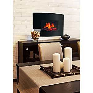 Decor flame 24 electric wall mount fireplace for Decor flame electric fireplace