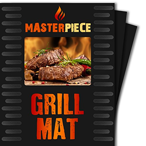 BBQ Grill Mat - Set of 2 PFOA Free Heavy Duty Nonstick BBQ Grilling Sheets - 16 x 13 Inch - Best Grilling and Cooking Accessories (Reversible Stop Top Griddle compare prices)