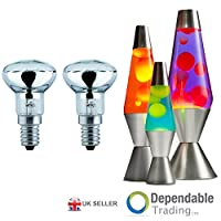 2 x 25w R39 Lava Lamp Spot Reflector Replacement Bulb SES E14 Small Edison Screw from Dependable Trading LTD
