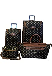 American Flyer Luggage Fleur De Lis 4 Piece Set