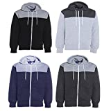 New Mens Contrast Quilted Patch And Panel Apparel Hoodie Jumper Elbow Patch S-XL