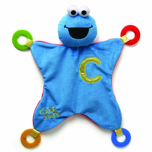 Gund Baby Sesame Street Activity Blanket, Cookie (Discontinued by Manufacturer)