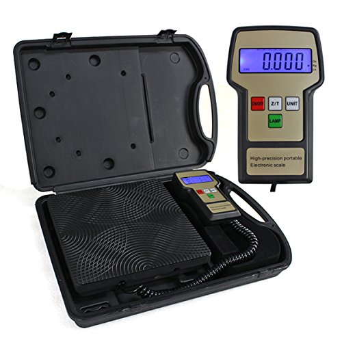 F2C Refrigerant Digital Electronic Charging Weight Scale 220 lbs for HVAC with Case (Electronic Refrigerant Scale compare prices)