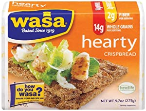 Wasa Hearty Crispbread, 9.7 Ounce Packages (Pack of 12)