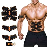 [New Version 2017] Professional Abdominal Muscle Toning Belt Home Fitness Training Gear, Vibration Pads for Men and Women to Tone, Loss Weight, Trimmer, Slender, Shaper, Strong (Abs fit+Body fit)