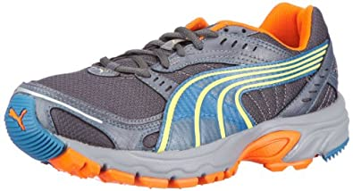 Puma Axis TR 185424, Herren Sportschuhe - Running, Grau (dark shadow-lime punch 04), EU 48.5 (UK 13) (US 14)