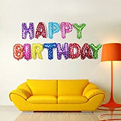 My Party Suppliers Happy Birthday Mix Color Heart Letter Foil Balloon - 13 Individual Letter