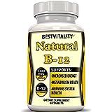 Natural Vitamin B12 5000 Mcg (Methyl B12) Supplement Methylcobalamin. Boost Memory Alertness Treat B-12 Deficiency, Reduces Tiredness , Improves Thinking & Memory, Made in the USA, Free Ebook