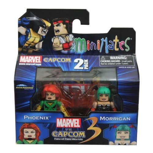 Marvel Vs Capcom 3 Minimates Series 1 Mini Figure 2Pack Phoenix Vs. Morrigan