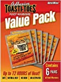 HeatMax Toe Warmers Value Pack (Adhesive) - 6 Pair
