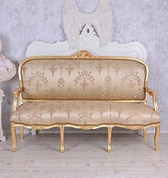 Französische Sitzbank Antik Sofa Barocksofa Salonmöbel Barock Palazzo Exclusive