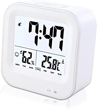 Samshow Rechargeable Digital Alarm Clock