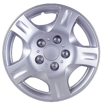 Drive Accessories Plastic Wheel Cover, Silver Lacquer (Alloy Color)