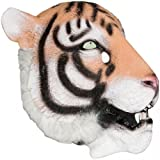 Realistic Tiger Mask: Full Face Rubber Latex with Faux Fur Costume Mask