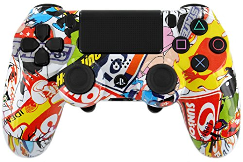 """Butterfly Paddle Wild Stickers"" Ps4 Custom Button Remapped Controller For Pro-Gaming & Tournaments! ""Programmable"""