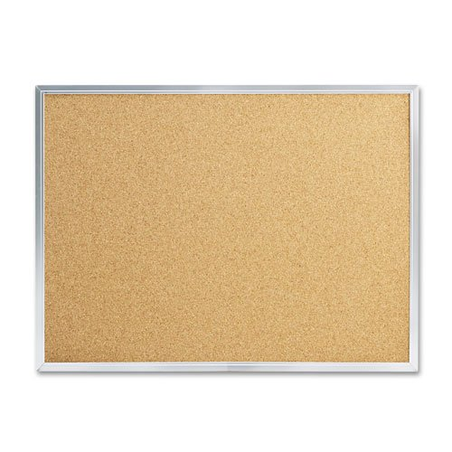 Quartet Products - Quartet - Cork Bulletin Board, 24 x 18, Aluminum Frame - Sold As 1 Each - Keep important information on display. - This hard-working, natural cork board creates a convenient display center in break rooms, factory floors, warehouses and more. - Long-lasting, dense, durable cork holds push pins tightly and self-seals when they're removed. - Anodized aluminum frame. - Easy-to-hang board has factory-installed SureLoxTM mounting system.