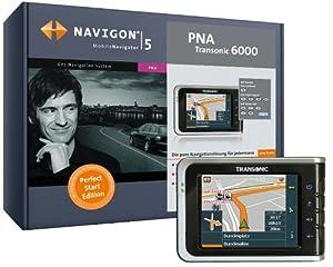 Navigon Transonic PNA 6000 Perfect Start Navigation Mobile Navigator 5.2 (Deutschland und Alpenregion auf 512MB SD Karte)