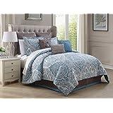 9 Piece Cal King Donatella 100% Cotton Comforter Set