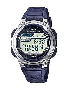 Casio - W-212H-2A - Sports - Montre Mixte - Quartz Digital - Cadran LCD - Bracelet Résine Bleu