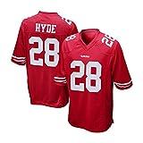 Mens San Francisco 49ers Carlos Hyde #28 Scarlet Game Jersey XL