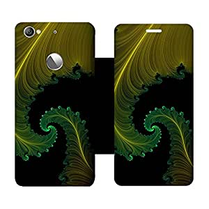 Phone Candy Designer Flip Cover with hi-res printed Vinyl sticker wrap-around for Letv 1S
