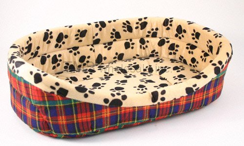 Small 14x19 Dog or Cat Paw Print Deep Pet Bed Supplies