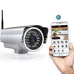 PIPCAM Wireless Outdoor WiFi IP Security Camera Surveillance Weatherproof Aluminum Bullet Night Vision Mobile App