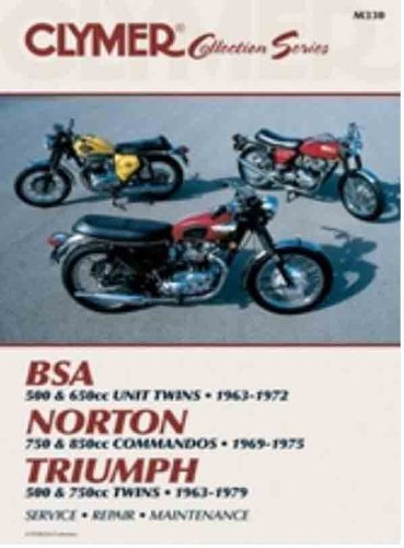 Clymer Vintage British Street Bikes Manual M330 back-25576