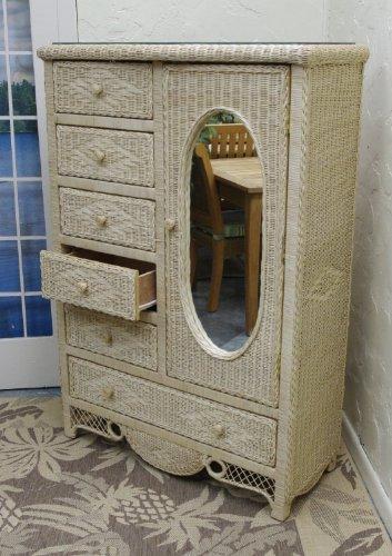 Wicker Dresser Furniture front-1060322