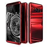 Galaxy S8 Plus Case,ATOOZ Ultra Slim 360 Degree All-around Full Body Coverage Electroplating Mirror Lightweight Shockproof Hard Case Cover for Samsung Galaxy S8 Plus 6.2 Inch (Red)