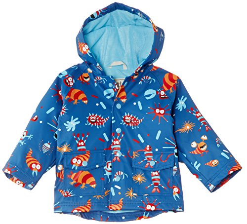 Hatley Little Boys' Little Boys' Raincoat Microscopic Creatures, Blue, 2 front-936340