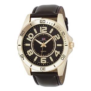 U.S. Polo Assn. Men's US5160 Brown Dial Brown Strap Watch